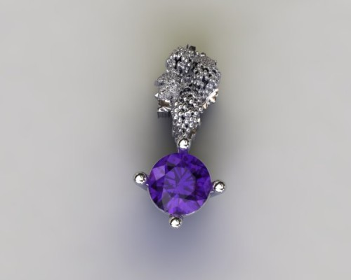 Amethyst Grape Pendant
