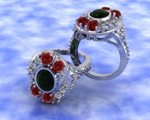 Custom Deco Fashion Ring
