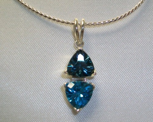 London blue and Swiss Blue Topaz Pendant