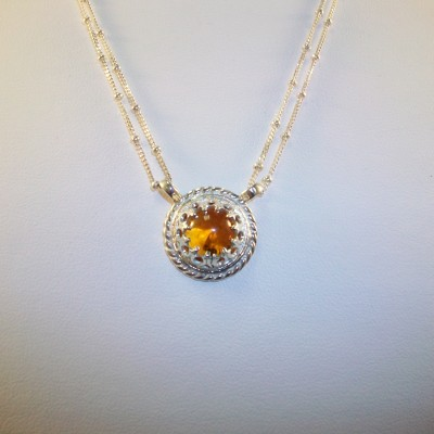Citrine  Bezel Set with Sterling silver