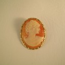 Cameo Broach with Pendant bail