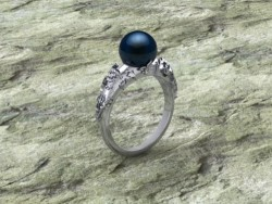 Tahitian Pearl with Skulls